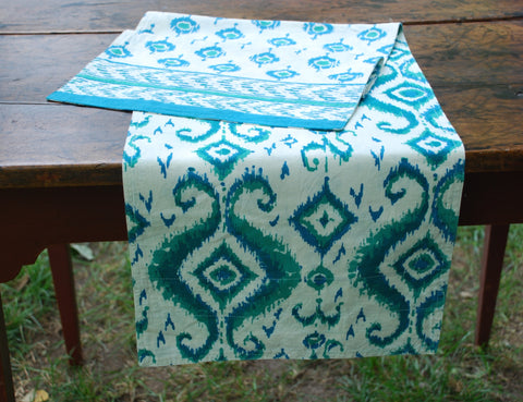 Block Printed Reversible Table Runner