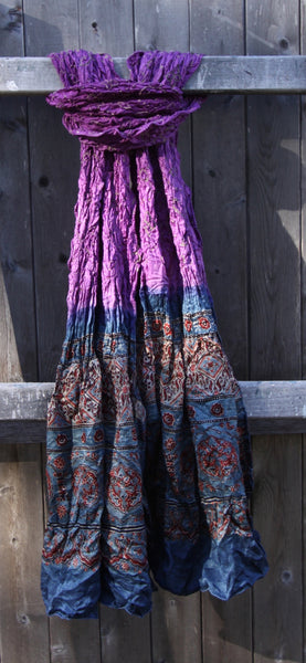 Purple & Blue Silk Scarf