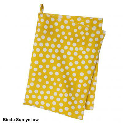 Yellow Polka Dot Cotton Dish Towel