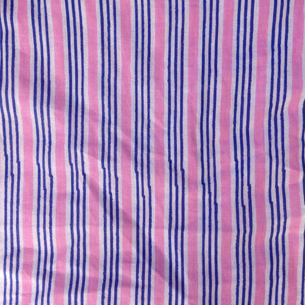 Pink Stripe Cosmetic Bag
