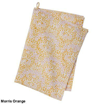 Yellow Block Printed Cotton Dish Towel