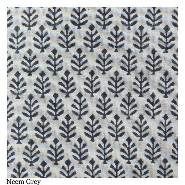 Grey Block Printed Cotton Dish Towel