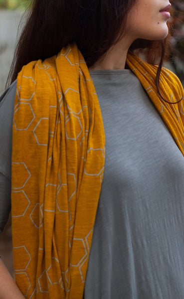 No Nasties Honeycomb and Bee Scarves