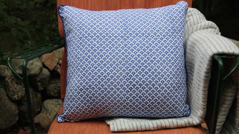 Meena Blue Decorative Pillow