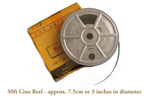 50ft Super/Standard 8mm Cine Film Transfer