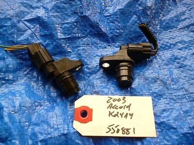 03-05 Honda Accord K24A4 k24 camshaft position sensor cam pair set OEM 550881