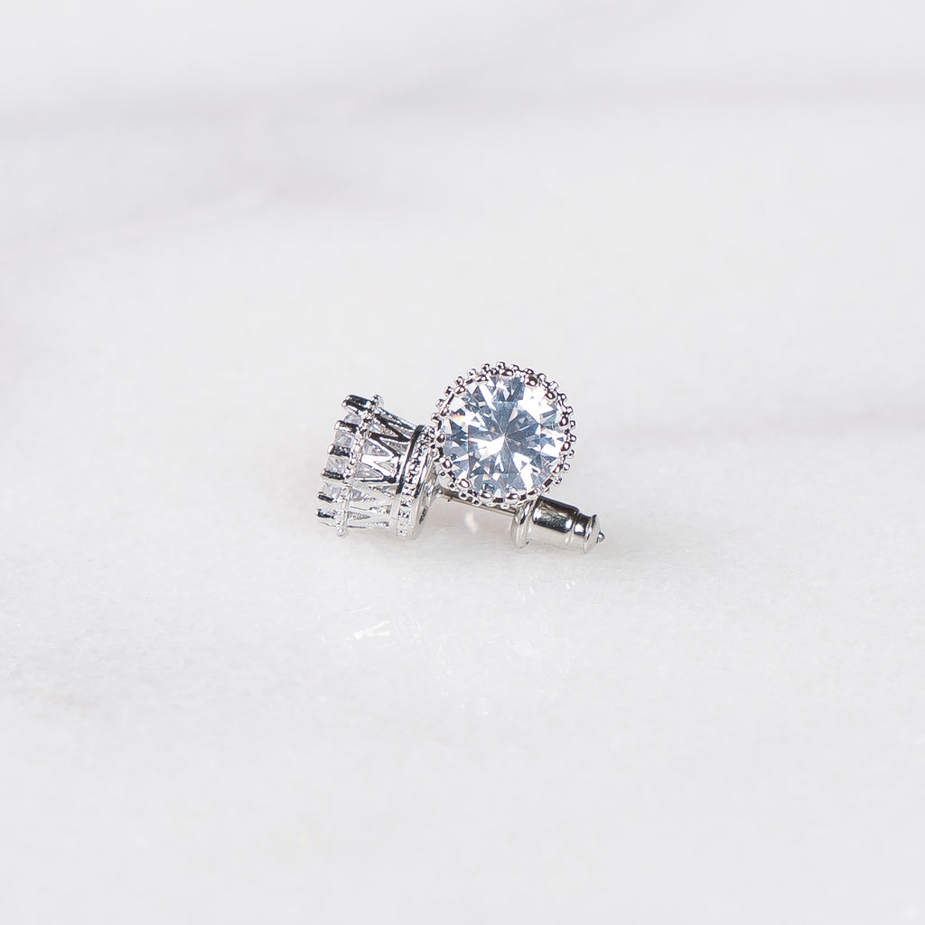 2 Carat Round Cut Stud Earrings