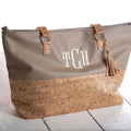 Monogram Cork & Gold Flake Handbag