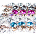 Glass Crystal Bracelets | Silver Links