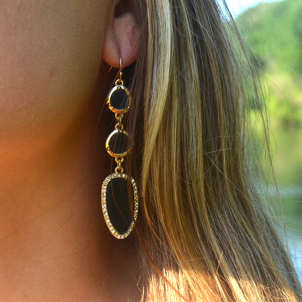 triple hi wt curved earrings earring rose us st jewelry gold aristocrazy bn