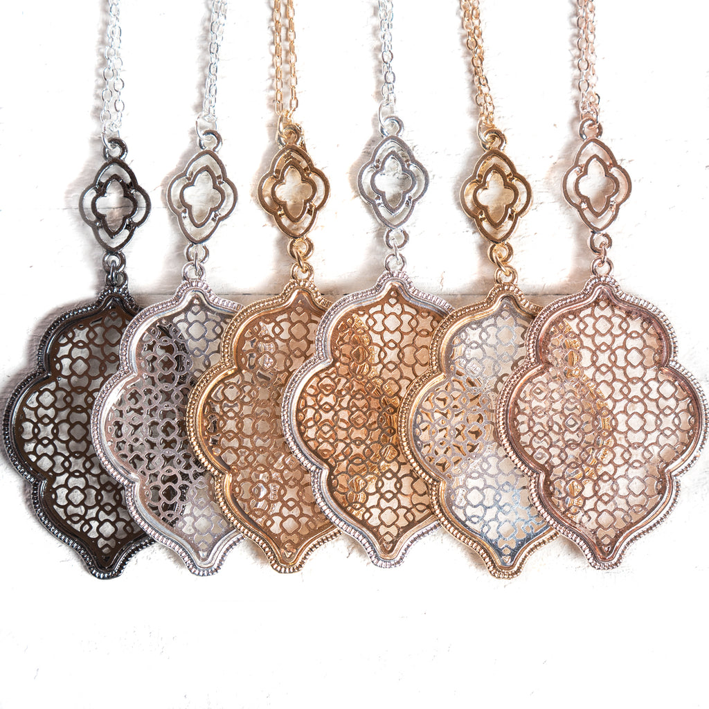 Quatrefoil Filigree Necklaces | 6 Styles