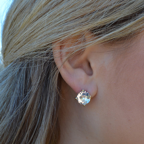 Glass Crystal Earrings - 11 Colors!