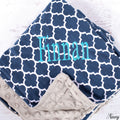 Quatrefoil Personalized Baby Blankets