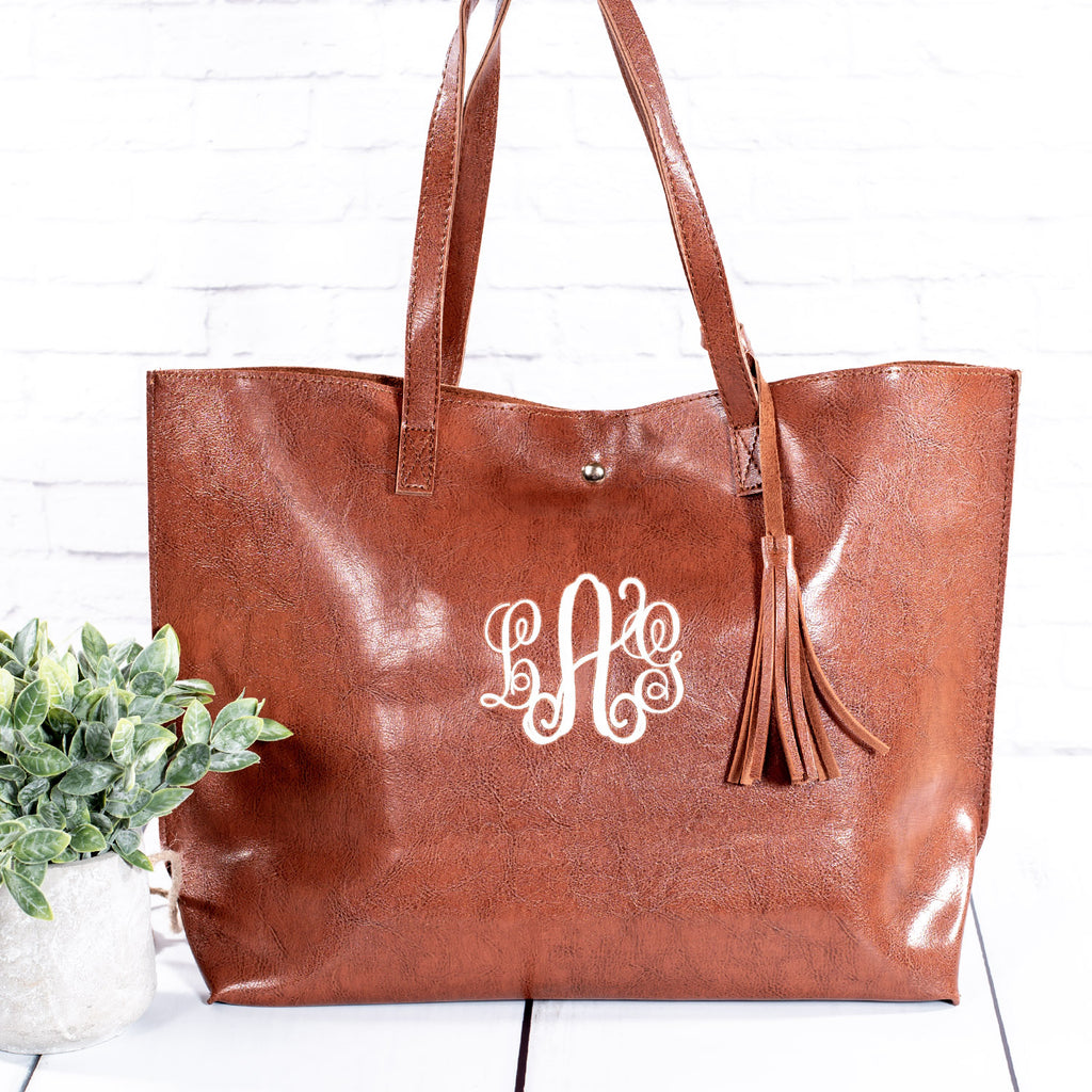 Monogrammed Market Totes | 7 Colors