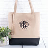 Monogrammed Two-Tone Bucket Totes | 5 Colors