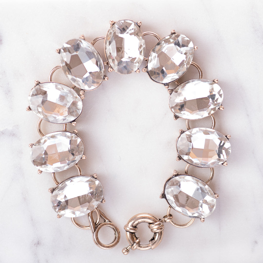 Oval Crystal Bracelets | 11 Colors
