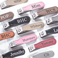 Personalized Leather Nail Clippers | 9 Styles