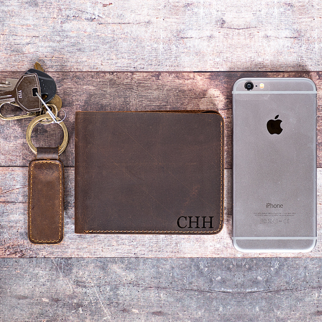 Engraved Vintage Leather Wallets | 2 Styles