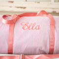 Personalized Seersucker Duffle Bags