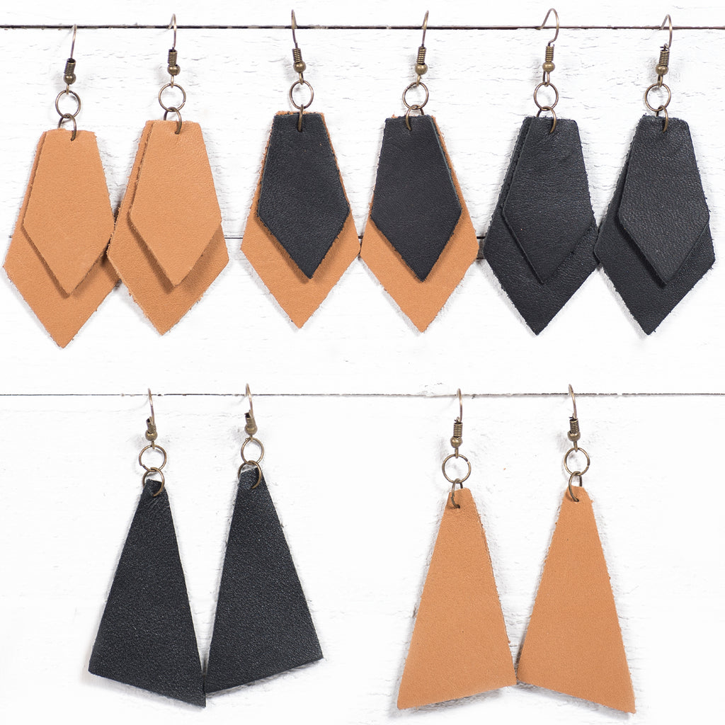 Real Leather Earrings | 5 Styles