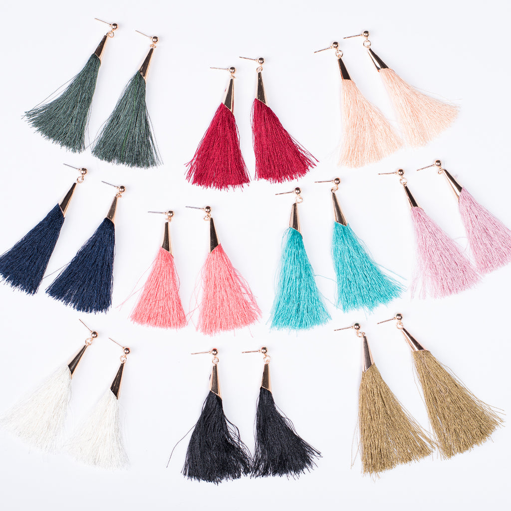 Tassel Earrings | 10 Colors