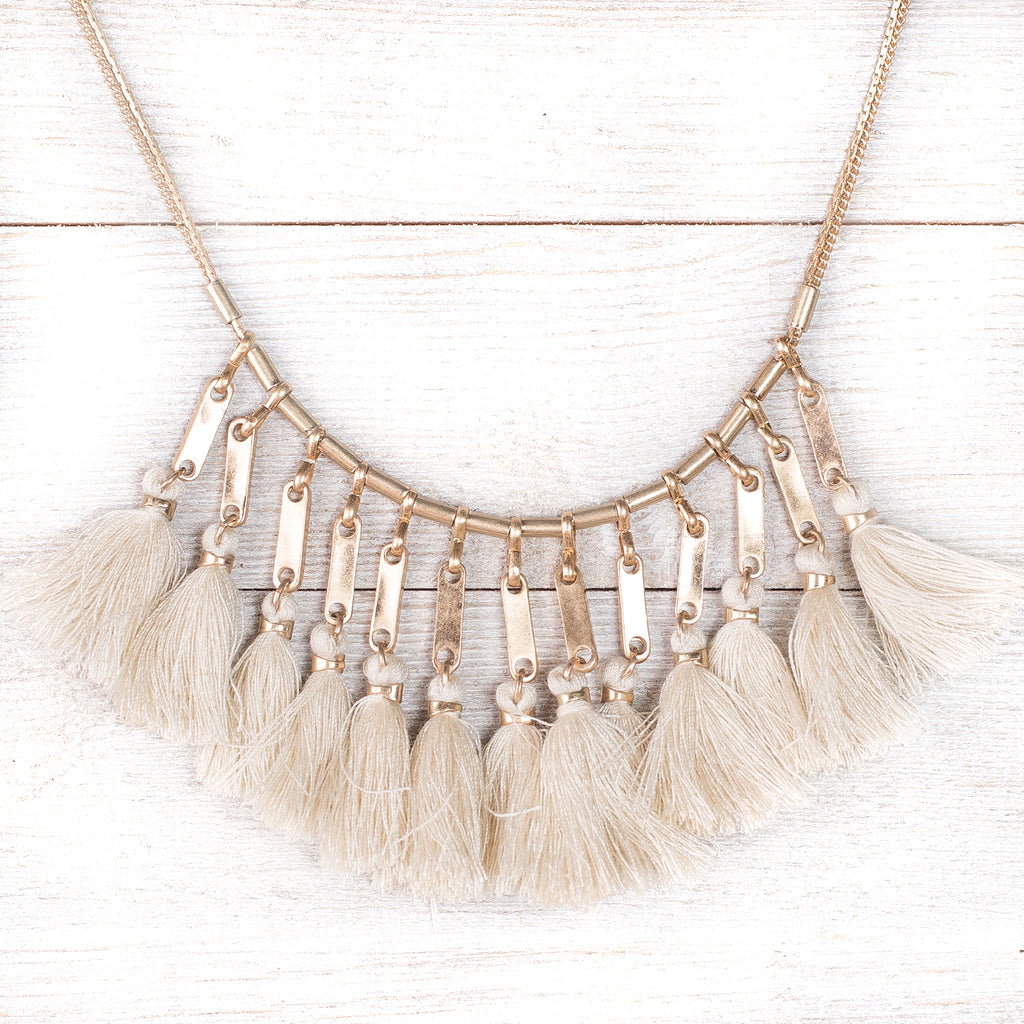 Vintage Link Tassel Necklace