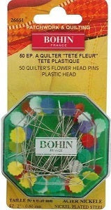 Bohin Quilters Flower Head Pins