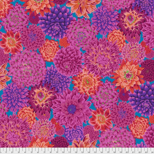 Kaffe Fassett Dancing Dahlias - Red