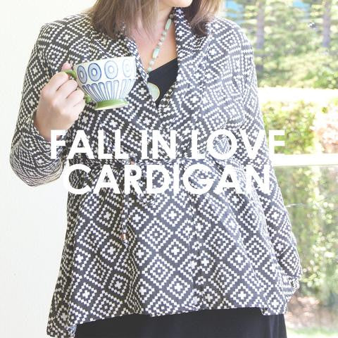 Sew to Grow patterns- Fall In Love Cardigan