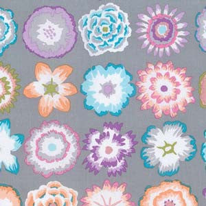 Kaffe Fassett Button Flowers- Grey