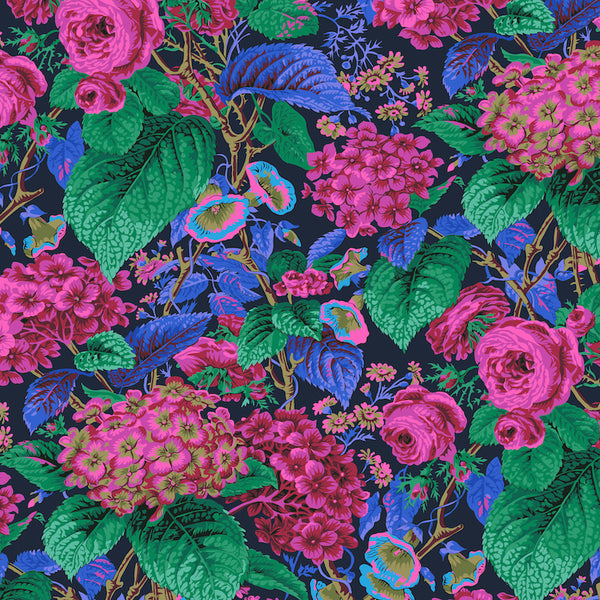 Philip Jacobs Rose and Hydrangea - Navy