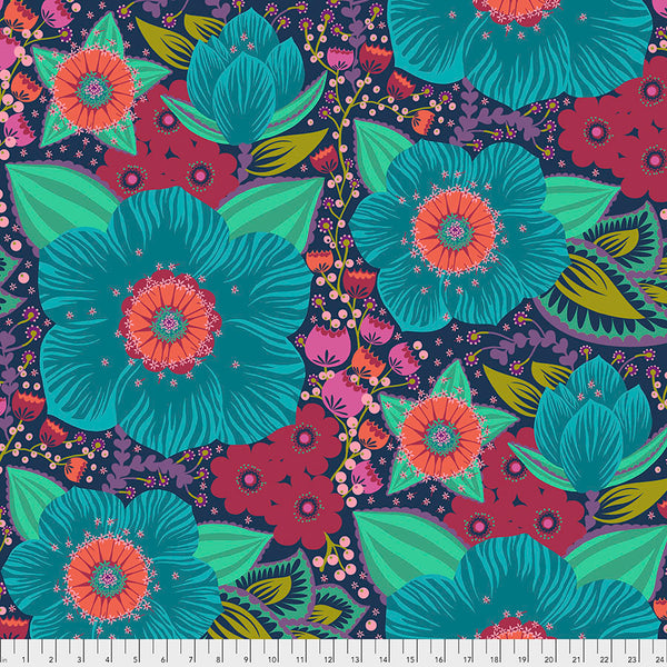 AMH Backing Fabric Hindsight Honorable Mention - Turquoise