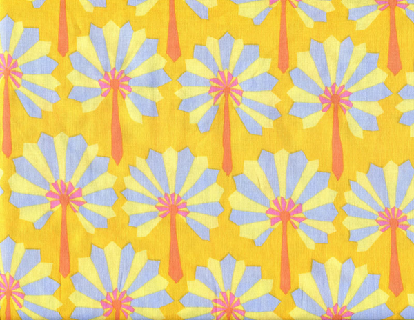 Kaffe Fassett Palm fan - Yellow