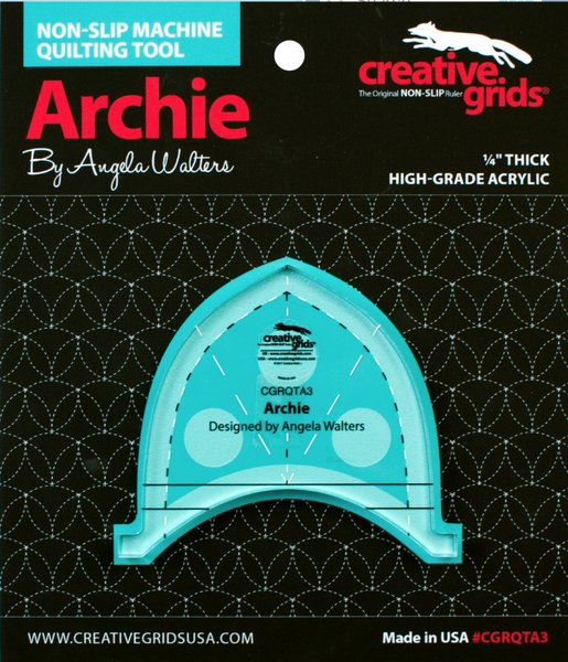 Creative Grids Non-Slip Machine Quilting Tool - Archie By Angela Walters