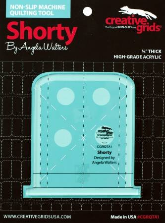 Creative Grids Non-Slip Machine Quilting Tool - Shorty By Angela Walters