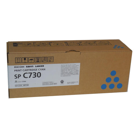 RICOH 407124 Cyan Print Cartridge