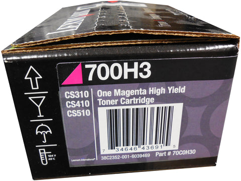 LEXMARK 70C0H30 (700H3) High Yield Magenta Toner Cartridge