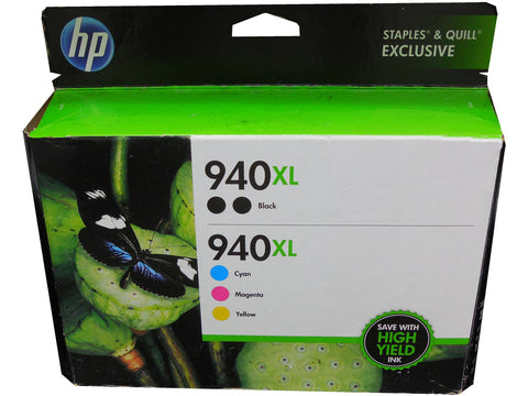 HP F6V11FN (940XL) High Yield Black and CMY Color Ink Combo 5/Pk