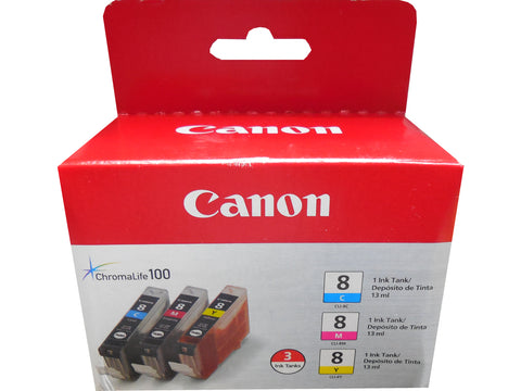 CANON CLI-8 (0621B016AA) (3 Pack) CMY