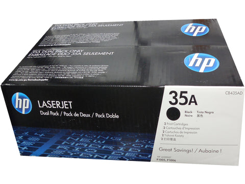 HP CB435D (35A) Black Toner Cartridge Dual Pack