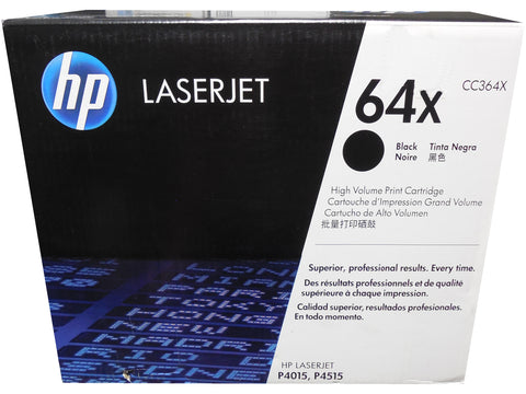HP CC364X (64X) High Yield Black Toner Cartridge