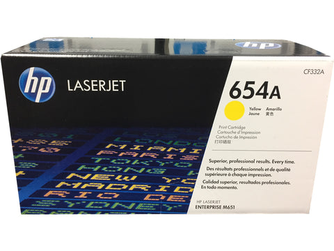 HP CF332A (654A) Yellow Toner