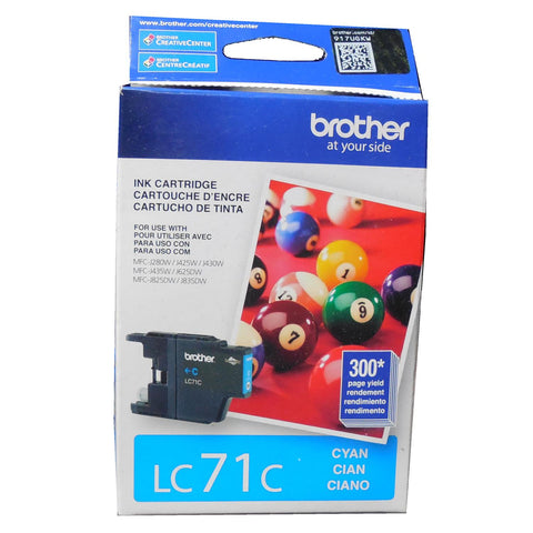 BROTHER LC-71C Cyan Ink 300p