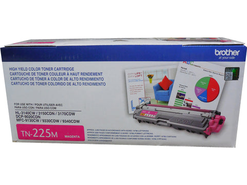 BROTHER TN-225M Magenta High Yield Toner 2.5k
