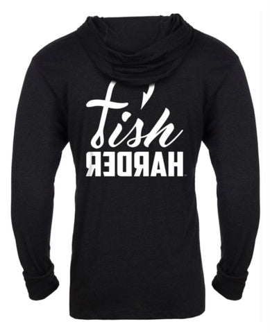 Fish Harder Long Sleeve Performance T-Shirt Hoodie with UV 50 Sun Protection