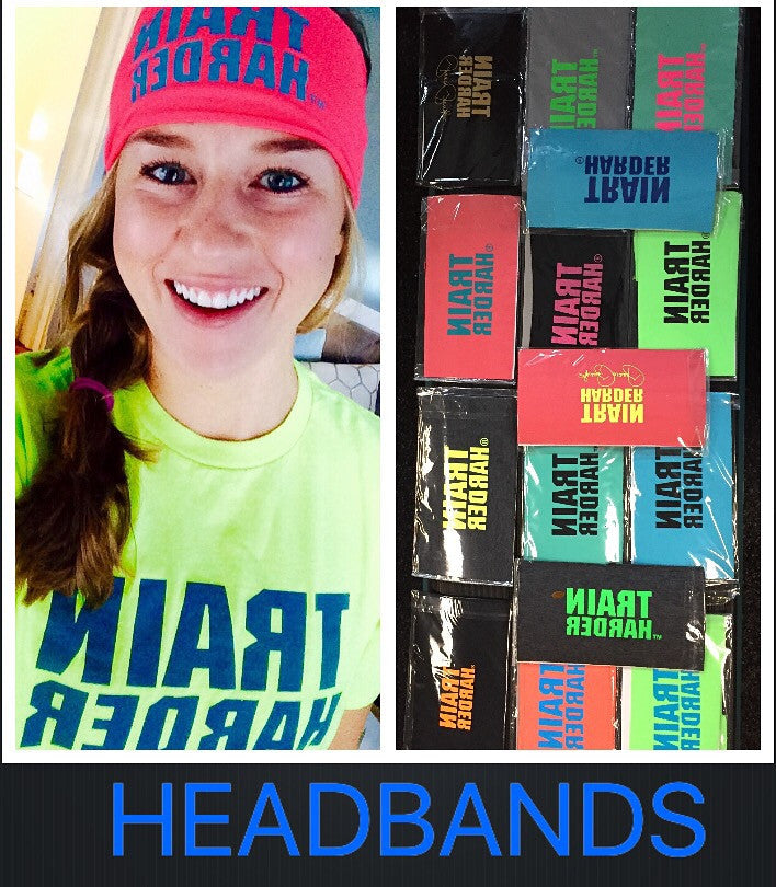 NEW! Train Harder Headbands