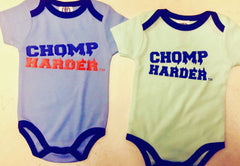 blue , orange, white, onesies  add color for logo