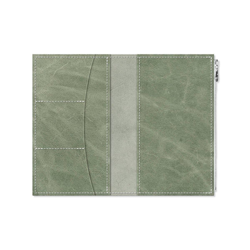 Custom - Foxy Notebook Wallet Insert - Size No. 7 - Green Tea