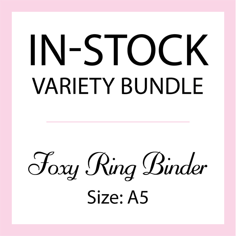 Mystery In-Stock Variety Bundle - Foxy Ring Binder - Size A5