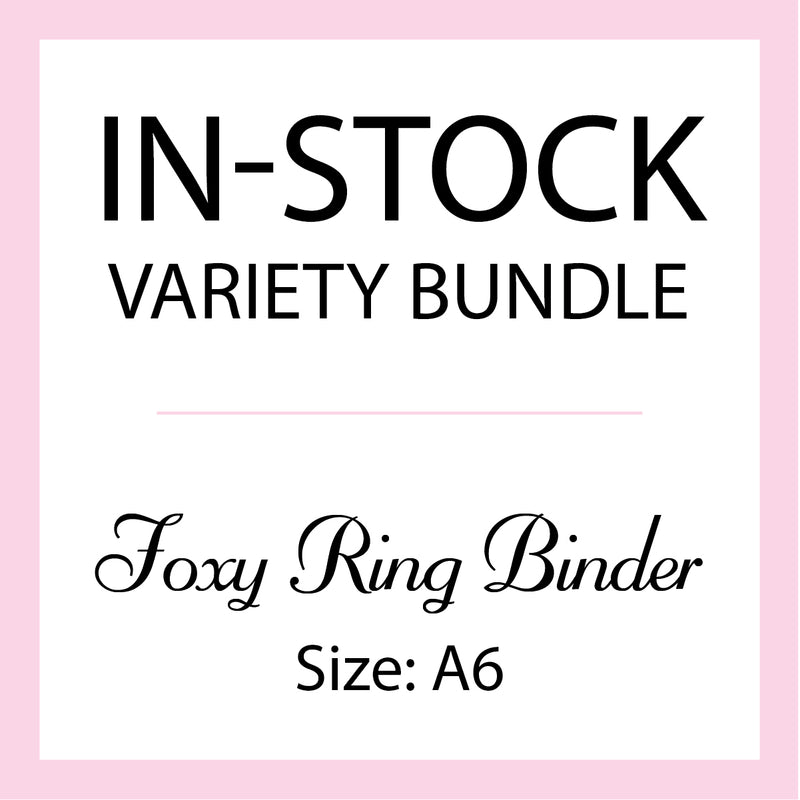 Mystery In-Stock Variety Bundle - Foxy Ring Binder - Size A6